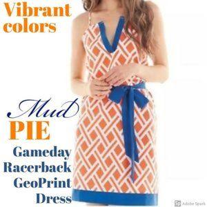 Mud Pie Gameday Racerback GeoPrint Dress Sz M